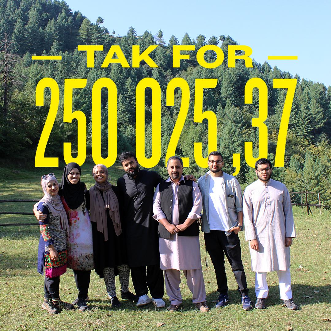 Teamet siger tak for 250.025,37 kr.